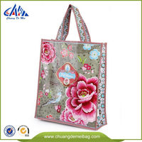 High Quality PP Non Woven Color Printed Waterproof Foldding Shopping Tote Bag