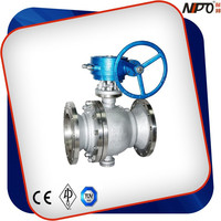CF8M Two-piece Flanged Ends Full Bore/Reduced Bore Trunnion Mounted Ball Valve With Worm Gear