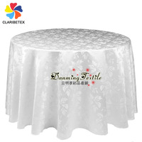 Popular 120inch Round Polyester Damask Wedding Table cloths