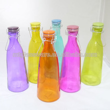 colored bottle with clip lid juice bottle with swing cup lid