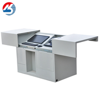 Professional Manufacturer hidden LCD monitor smart podium customizable school supplies
