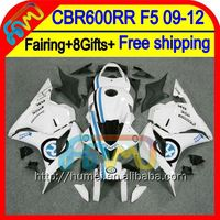 8Gifts For HONDA Blue R CBR600RR F5 09 10 11 12 47HM40 CBR 600RR 600 RR Injection CBR600 RR White 2009 2010 2011 2012 Fairing