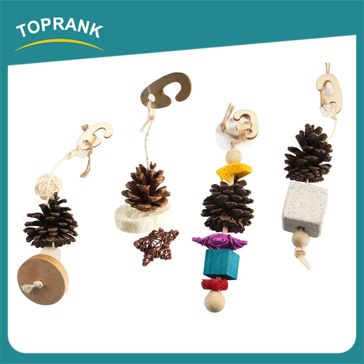 Cheap Bird cage hanging bird toy, cute birds toys with pine cone