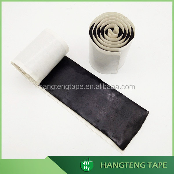 Single roll no inner core black adhesive sealant butyl seal tape