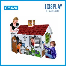 Chinese manufacturer eco-friendly cardboard kids DIY house