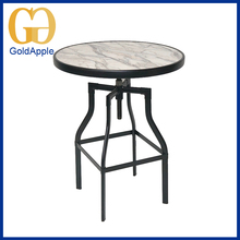 All kinds of rectangle dining furniture metal base with MDF top dining table
