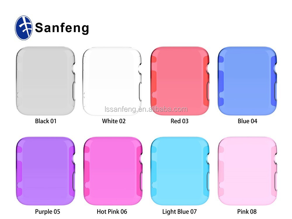 Beatiful Images Super Thin Transparent Case For Apple Watch With 8 Colors