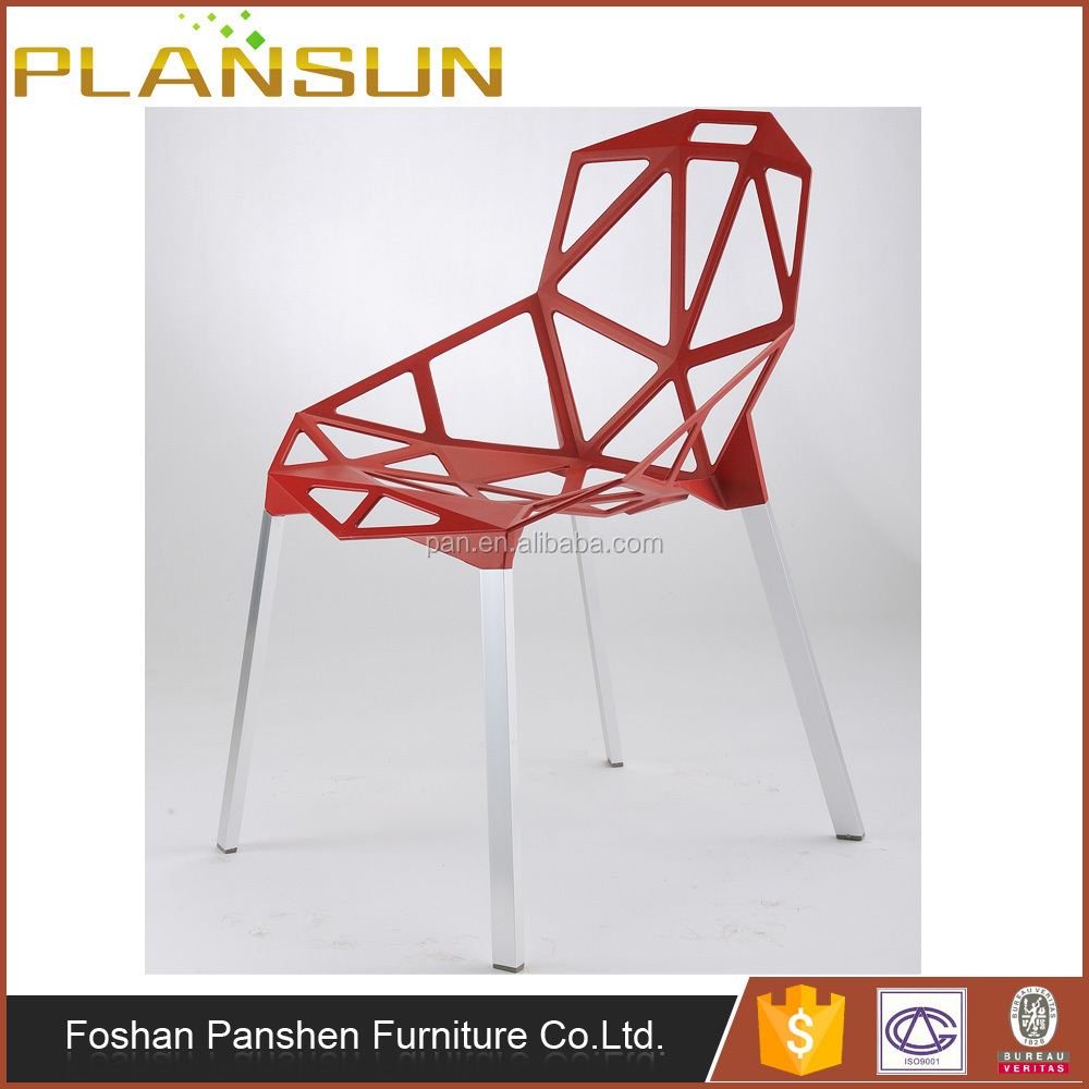 Konstantin Gcric red aluminum shell Magis Chair One Dining Chair Replica
