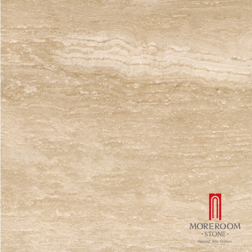 Glazed imitation beige color travertine tile marble tile for Suelo marmol beige