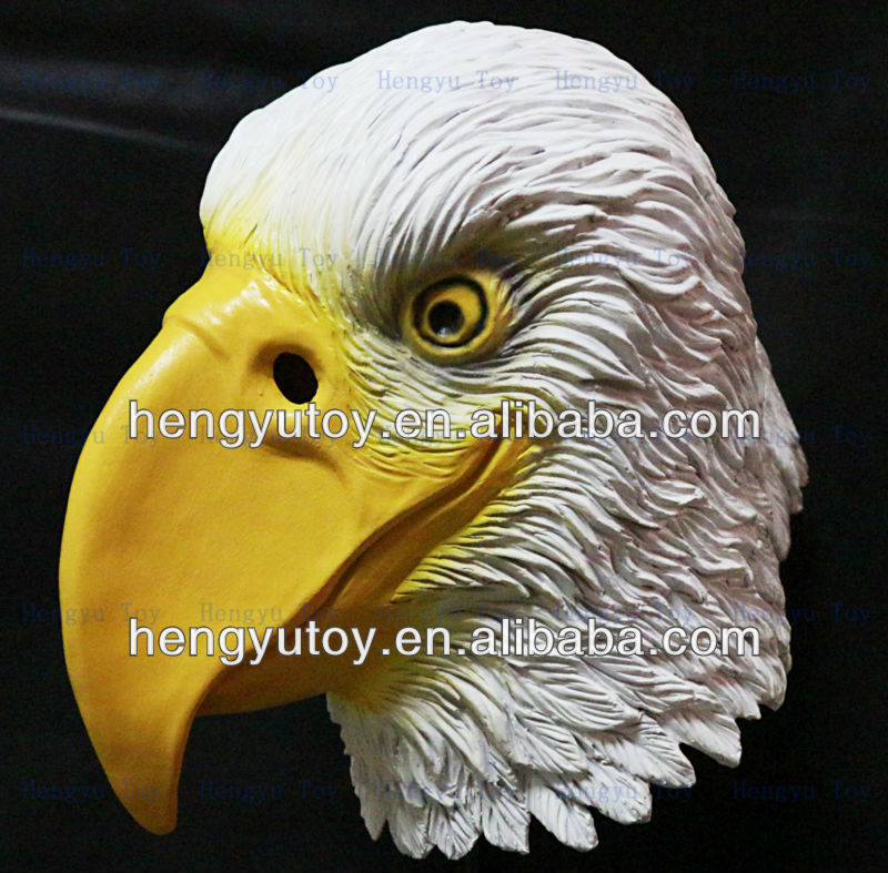 Light comedy Realistic 3D Animated latex white hawk mask