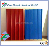PVDF or PE Coated 14-63.5-850 Color corrugated aluminum sheet for roofing