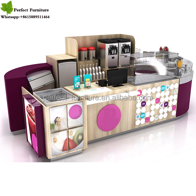 shop furniture with coffee shop counters and juice bar counter design for sale