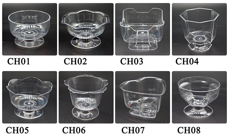 Top quality food grade disposable plastic wine champagne cocktail tasting cup for party,Plastic Dessert Cups with lids Ice Cream