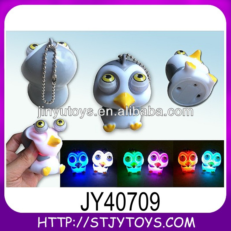 Pop eyes out animal toy of promotional keychain