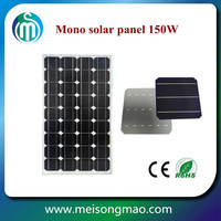High efficiency durable solar panel 130W 140W 150W monocrystalline silicon