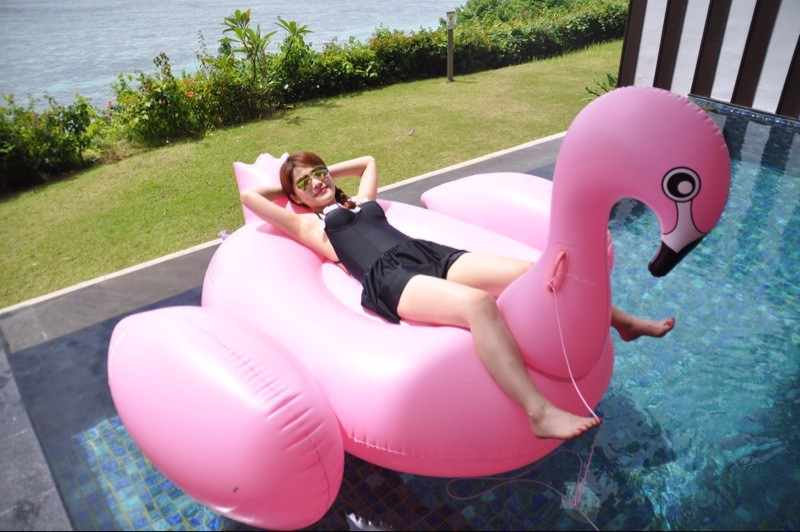2017 Available Giant Pink Water Pool Float Inflatable sunny flamingo