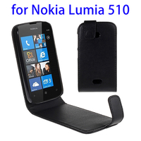 Wholesale price Flip leather case for Nokia Lumia 510 snap Magnetic