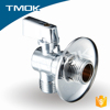 "3/4""*1/2"" brass stem angle 90 degree polishing chromed plated flow three way lead free angle seat valve needle filter"