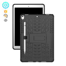 Rugged pc with soft tpu protective shell case cover for ipad mini cases with custom logo