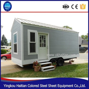 2016 POP Hot Sale House on wheels tree house wooden movable prefabricated green european modular homes with wheels tiny house