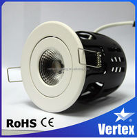 Adjustable Dimmable ceiling LED Down light, sharp COB 8W, 530lm