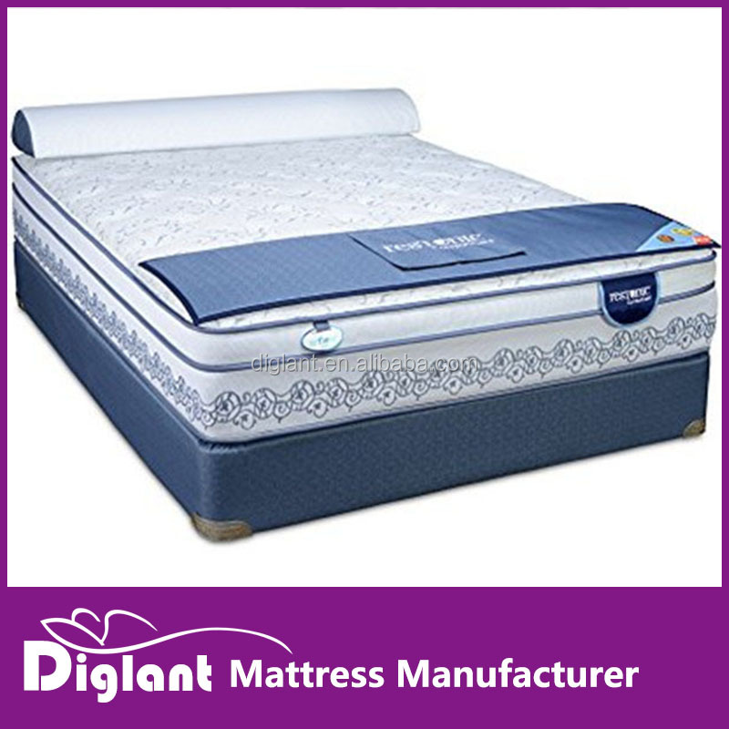 Laurel Euro Top Mattress and Platform Foundation, Queen, Slate Blue