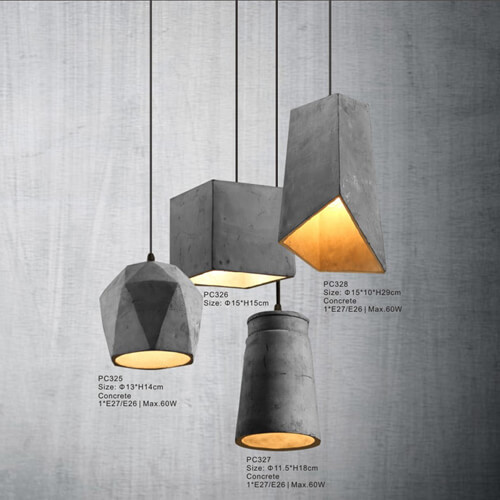 LED residential commercial modern vintage concrete chandelier pendant <strong>light</strong>