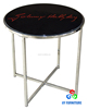High end glass top metal base sofa side table coner desk for sale