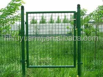 European style of metal powder coated garden gate