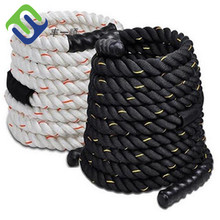 "Fitness 30ft Heavy Battle Rope 2"" Poly Dacron Climbing &Training"