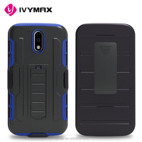 Wholesale China Import Heavy Duty Kickstand Double Layer Hybrid Combo Hard Silicone Robot Case for Motorola Moto G4 Case Cover