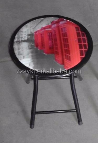Sturdy steel metal custom pattern folding seat stools manufacturer