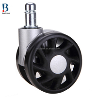 BL Hot Sale 2.5 Inch Black and White swivel nylon Medical caster wheels