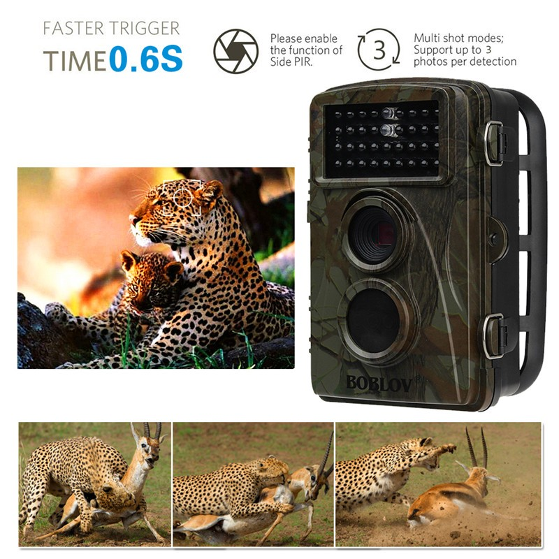 "2.4""LCD Hunting Camera Trail Scouting Wildlife Night Vision IR Cut Infrared Camera"