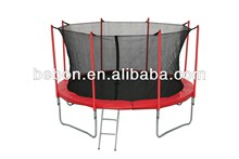 14FT backyard king trampoline with safety net and ladder
