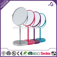 Professional color magnify compact cosmetic tabletop mirror with high quality