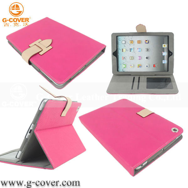for ipad mini book leather case with wholesale price