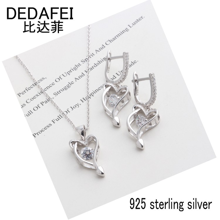 925 sterling silver silver earrings pendant jewelry set
