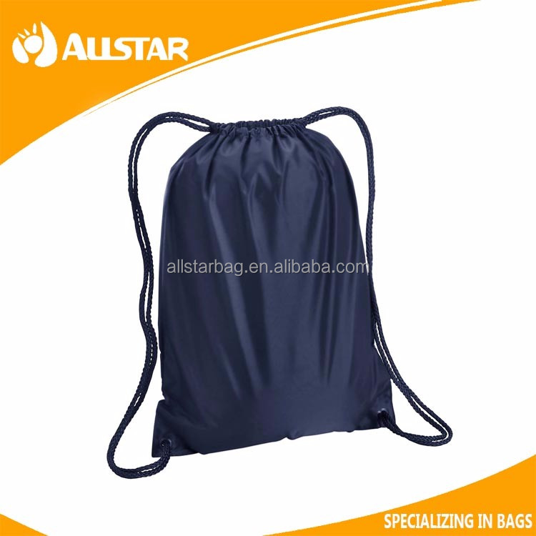 Factory Direct Promotional Nylon Gym Sack Drawstring Bag