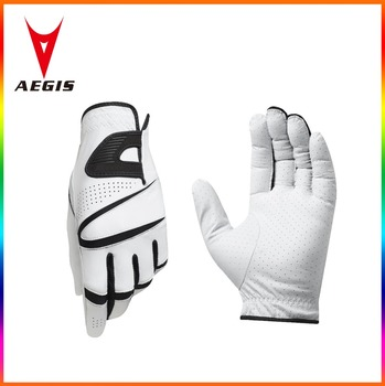 Embroidered logo Wholesale Price Best Grip Golf Gloves white color
