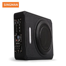 "singman Good performance 10"" 12V slim under seat car amplifier active subwoofer"