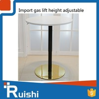 Gas lift height adjustable mini and illuminated bar table