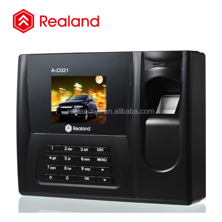 TCP/IP USB Memory Flash 2000 Fingerprint Capacity fingerprint biometric time attendance (Realand A-C021)