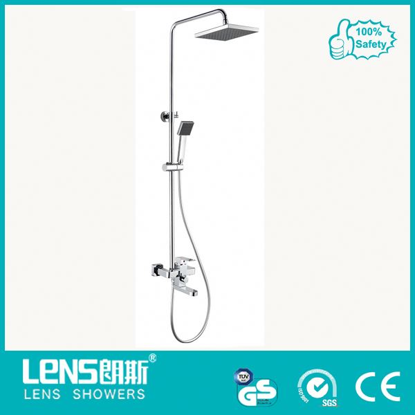 Solid brass flexible shower head extension for bathroom