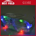 4pcs color shutter eyeglass flashing led shutter glasses