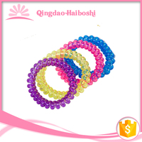 mytest 5.5 cm traceless bracelet/elastic phone cord hair ring/telephone wire hair accessories headwear