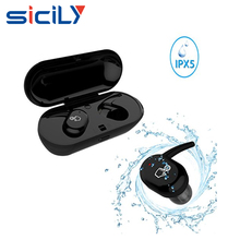 Touch Wireless Earbuds,IPX5 Waterproof Bluetooth Earphones for Running, Headset with Twins Stereo