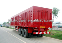 Van truck semi trailer manufacturerfor cargo/electronic appliance transportation