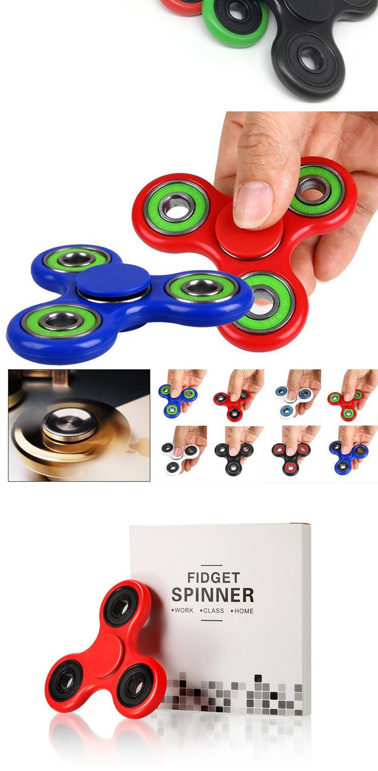 2017 fidget bearing 608ug ceramic popular fidget spinner with stock novelty toys