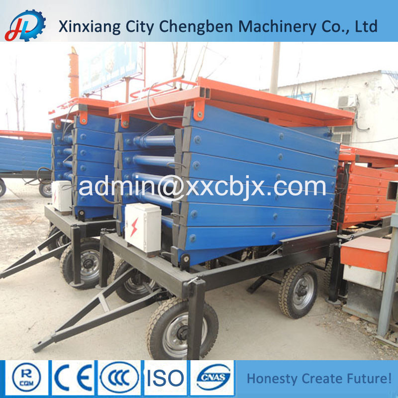 6m lift height electric mobile scissor lift, contact info(at)xxcbjx.com